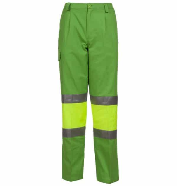 pantalón verde alta visibilidad