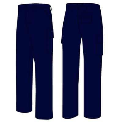 pantalón multibolsillos color azul